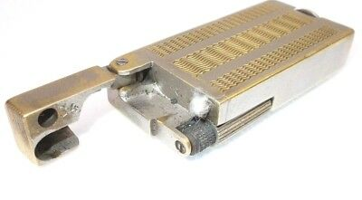 Vintage cigarette lighter petrol brass antique trench Gamma Hungary 1950s  -