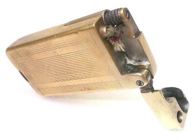 Vintage cigarette lighter petrol brass antique trench Gamma Hungary 1950s  --