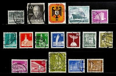 Berlin, Germany: 1953-7 Stamp Collection With Better