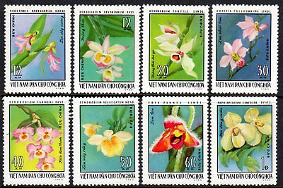 1976 NORTH VIETNAM ORCHIDS SGN864-871 mint no gum as issued