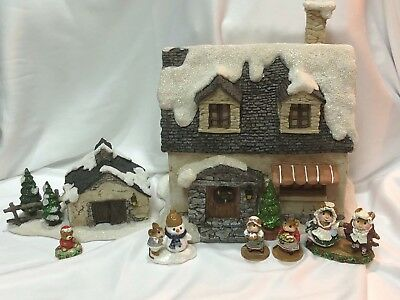 Snowy House and Barn for Wee Forest Folk WFF not Included