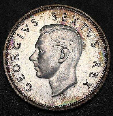 1952 South Africa Silver Shilling Proof Coin 1,550 Minted Hern# S227 Rare