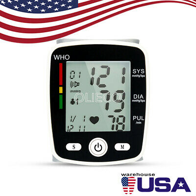 Electric Arm Blood Pressure Monitor LCD Digital Screen Health Care & Cuff Band