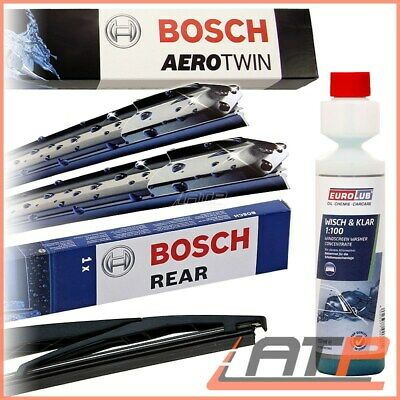 Bosch Aerotwin Wiper Blade Set Front Ar813S + Rear H351 + Washer Smart For-Four