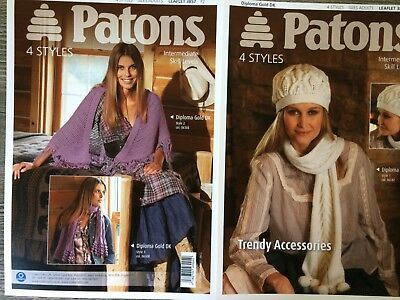 Patons Knitting Pattern: Ladies Hat, Scarves, Shawl, DK, One size, 3857
