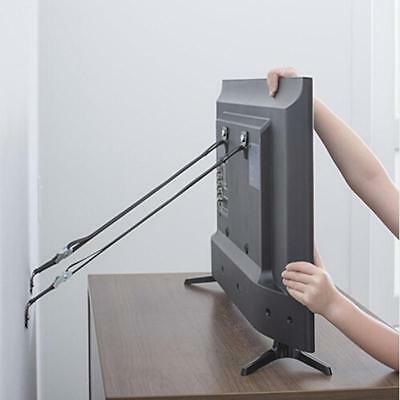 TV Furniture Safety Anti-tip Wall Straps Anchor Heavy Duty Metal Mounting C