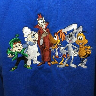 XL Vintage General Mills Cereal Character Mascot Cartoon Pullover Sweatshirt