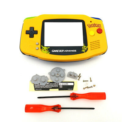 Big Pikachu Yellow Blue Housing Shell Mix Color Buttons for Game Boy Advance GBA