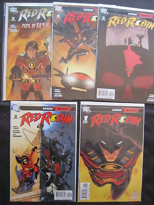 RED ROBIN, DC 2009 SERIES : COMPLETE RUN ISSUES 1,2,3,4,5 by YOST & BACHS