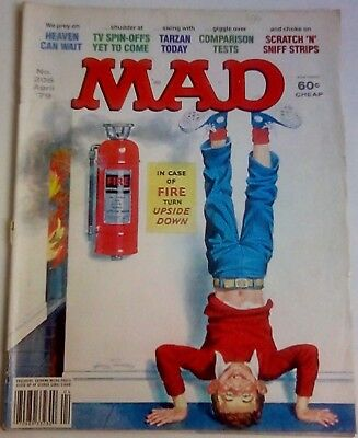 Mad Magazine No. 206 Dated April 1979. Us Edition. Very Good. Heaven Can Wait.