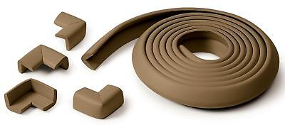 Prince Lionheart TABLE EDGE GUARD & 4 CORNERS CHOCOLATE Baby/Child Safety BN