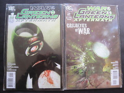 "GREEN LANTERN : ""WAR of the GREEN LANTERNS"", COMPLETE 2 ISSUE DC 2011 SERIES"