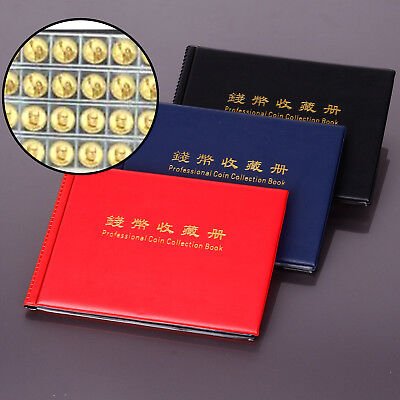 Collecting Coin Collection Holder Money Penny Album Book Pockets Red/Blue/Black