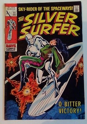 Silver Surfer 11 Dated December 1969. Very Good Condition.