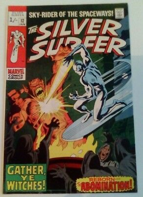 Silver Surfer 12 Dated January 1970. Very Good Condition.