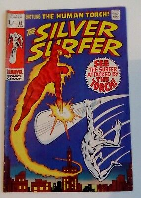 Silver Surfer 15 Dated April 1970. Very Good Condition.