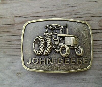 John Deere Tractor Belt Buckle Bronze NEW #2