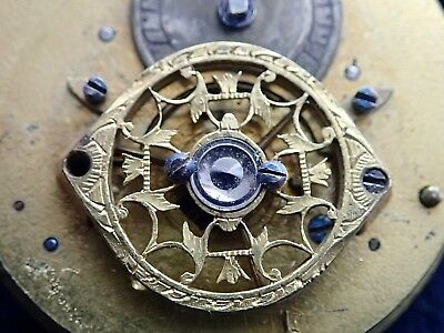 French Small 18th Century Fusee Verge Pocket Watch Movement c1790 Tompion Reg