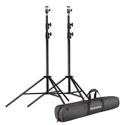 Neewer 2 Packs Photo Heavy Duty Light Stand with Hot Shoe Ball Head Adapter