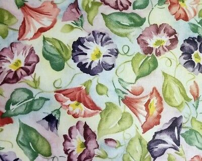 Longaberger Morning Glory fabric.  Big 56 inches wide. Sold by the yard