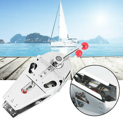 Twin Lever Handle Dual Engine Control Top Mount Boat Marine 316 Stainless Steel