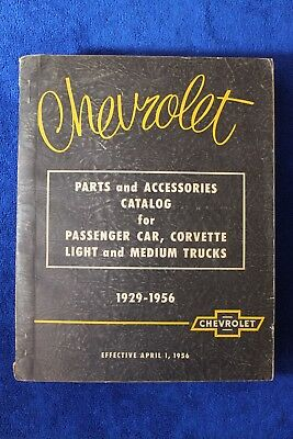 Vintage 1929 - 1956 Chevrolet Parts and Accessories Catalog Book Pickup Truck