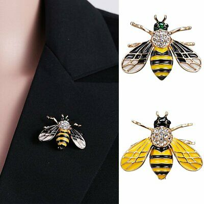 Charm Animal Insect Bee Spider Pearl Crystal Brooch Pin Women Mens Jewellery