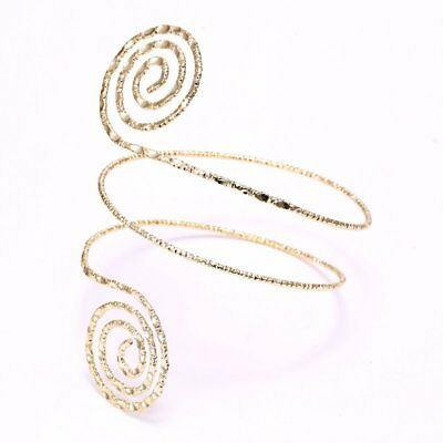 Hot Summer Gold Punk Swirl Upper Arm Cuff Armlet Armband Bangle Bracelet Jewelry