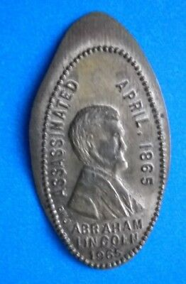 Abraham Lincoln elongated penny USA cent Assassinated April 1865 souvenir coin