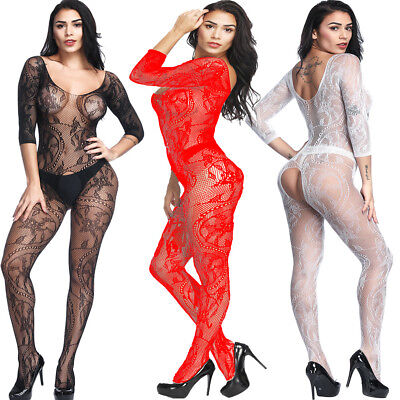 Womens Sexy Body stocking Lingerie Babydoll Dress Underwear Bodysuit
