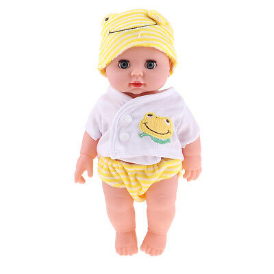 28cm Lifelike Vinyl Baby Doll Costumed Newborn Doll Kids Learning Toy