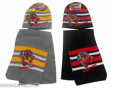 BNWT BOYS spiderman warm winter hat and scarf set christmas gift 2-4 & 4-6 YRS
