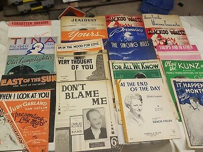 Job Lot Of Vintage Piano Sheet Music. 20 Pieces