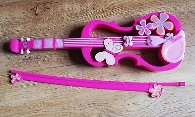 Barbie Pink Musical Violin And Bow Toy Instrument