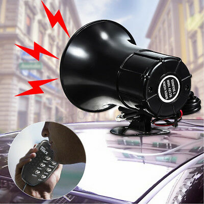 12V Loud 6 Sounds Air Horn Siren Speaker for Auto Car Boat Megaphone with MIC 3M