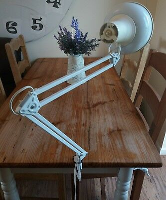 Vintage Lival P12 adjustable machinist/drafting anglepoise desk lamp 1970s