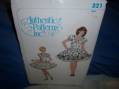 Halloween Costume Pattern Authentic Patterns 321 Square Dance Dress Size 6-8-10