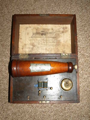 Griggs Conical Electro Magnetic Machine. 1873. Mahogany Case.