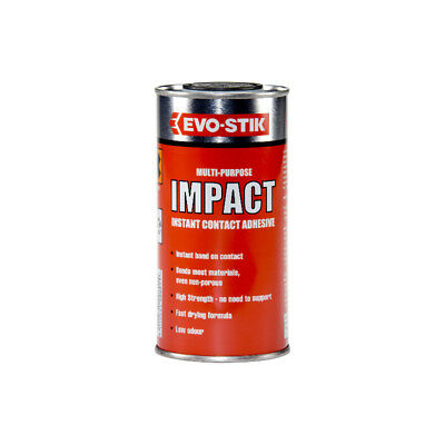Evo Stik Impact 500ml Tin Stick Contact Adhesive Multi Glue Wood Metal Plastic