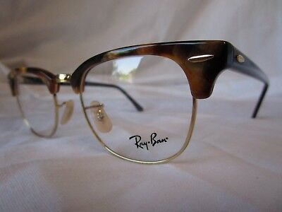 Ray Ban Eyeglass Frame Clubmaster Rx5154 5494 Havana Gold 49 Mm New & Authentic