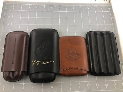 Judd's Lot of 4 Very Nice Leather Cigar Holders