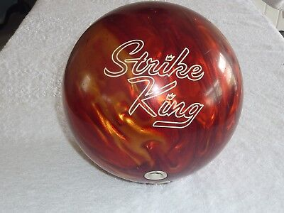 STRIKE KING RED SWIRL BOWLING BALL USBC AG031241 (15 / 16 lbs ) -- LEFT HANDED