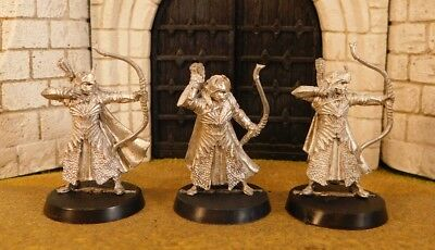 HALDIR'S ELF WARRIORS WITH BOW - Lord Of The Rings 3 Metal Figure(s)