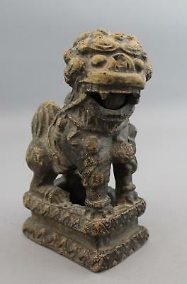 Antique Chinese Pottery Temple Guardian Lion Sculpture, Loose Ball