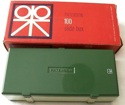 Paterson 100 X 35mm Plastic Slide Box ~ Very Good to Excellent Used Condition