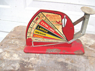 Vintage Antique Style Egg Scale Brower mfg,co, work well  some paint off