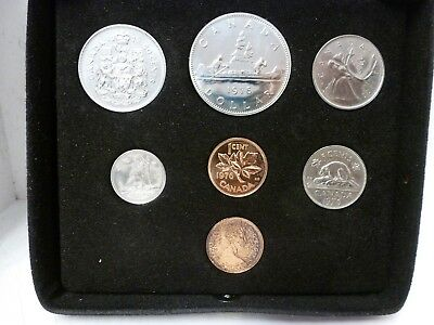 1976 Canada Uncirculated 7 Coin Set in Royal Canadian Mint Case with COA