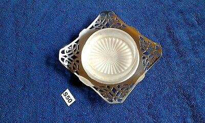 Vintage Caviar Dish With Pierced Pattern