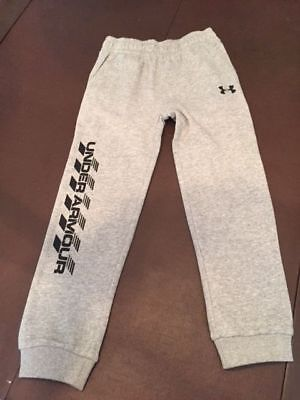 NWT Boy's Youth Under Armour Athletic Jogger Pants Sweatpants Gray Size 6  $28