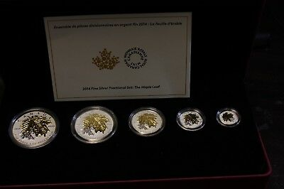 2014 Fine Silver Fractional Set : The Maple Leaf